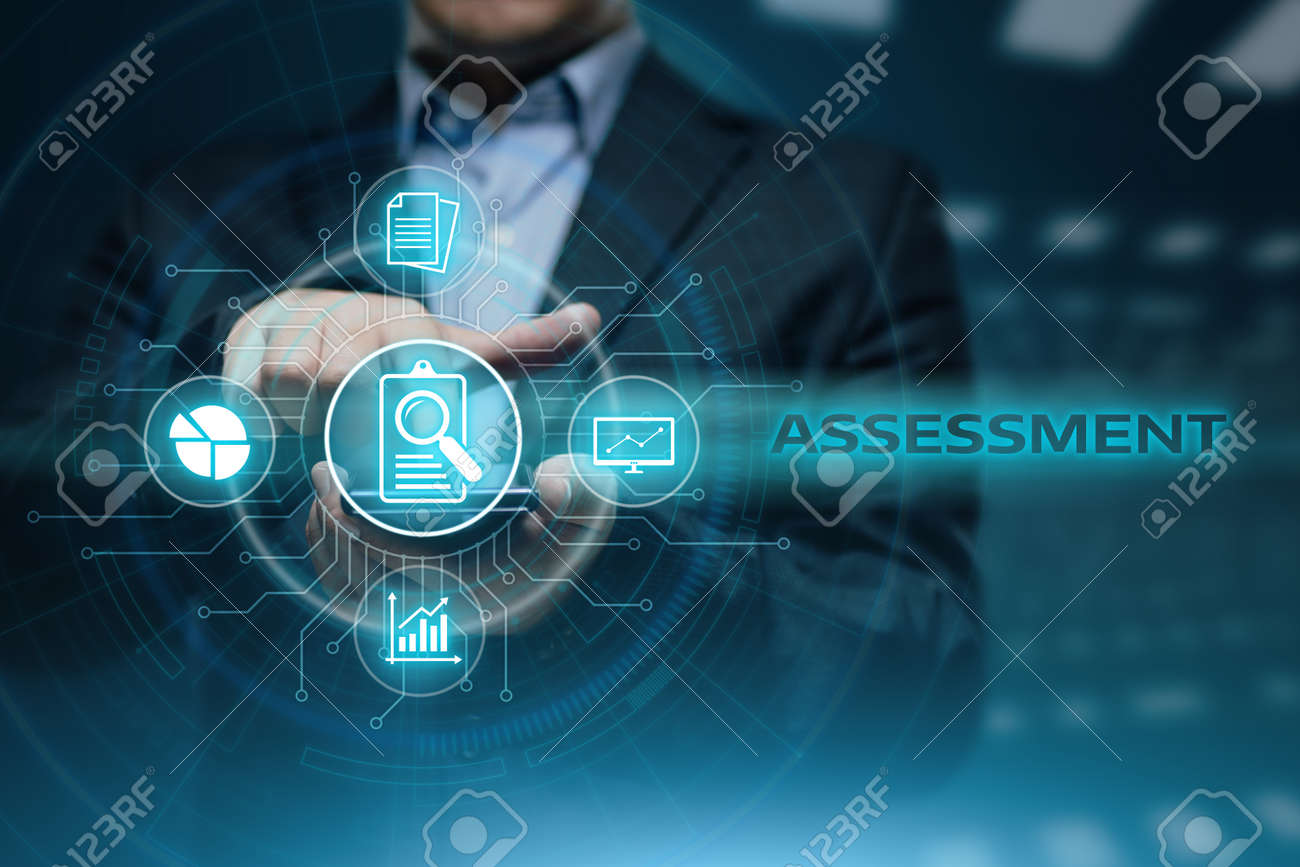 Assessment Analysis Evaluation Measure Business Analytics Technology concept. - 87352291