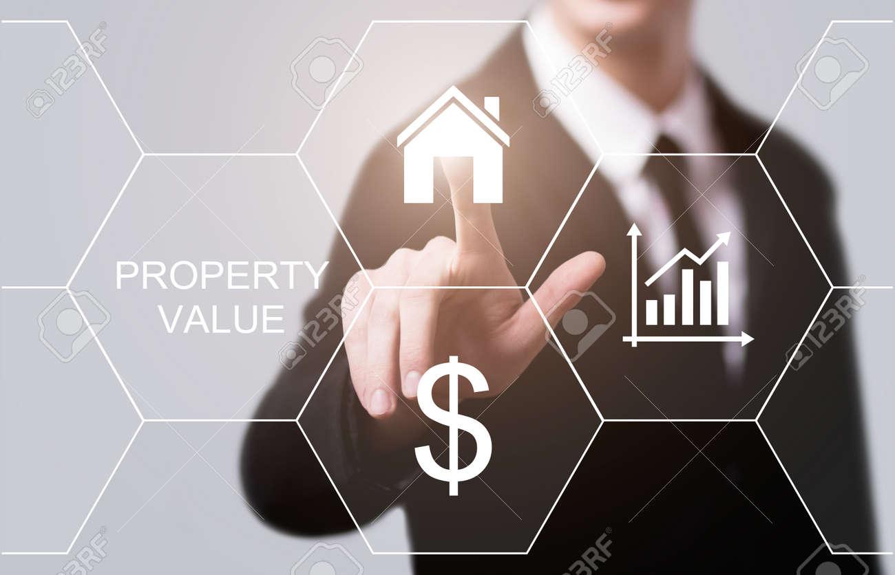 Property Value Real Estate Market Internet Business Technology Concept. - 87569612