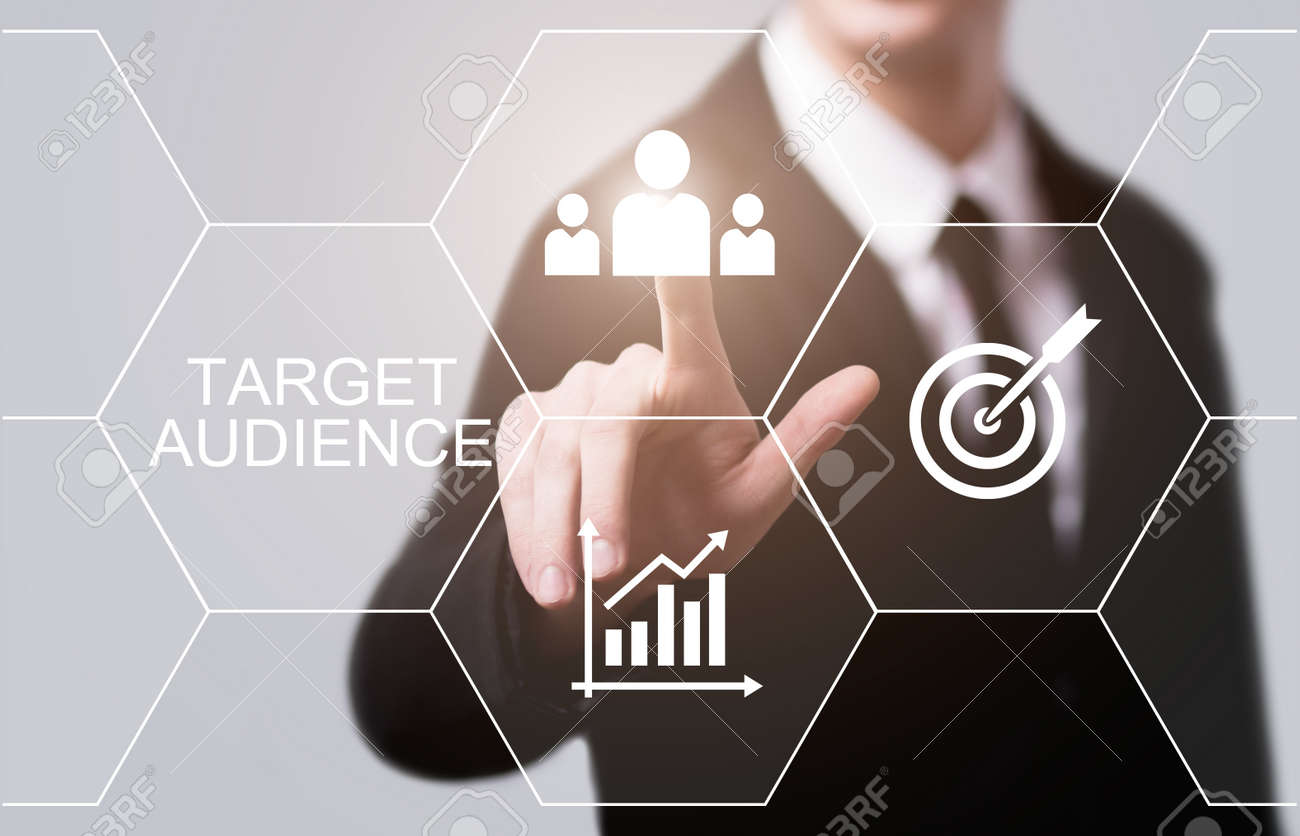 Target Audience Marketing Internet Business Technology Concept. - 87569623