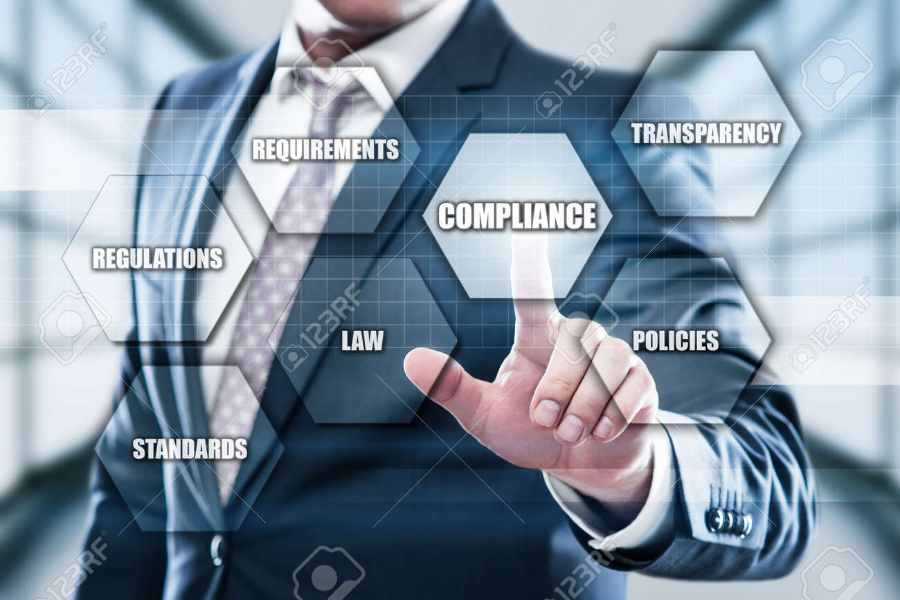 Compliance Rules Law Regulation Policy Business Technology concept. - 87569626