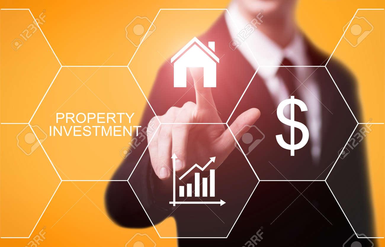 Property Investment Management Real Estate Market Internet Business Technology Concept. - 87667987