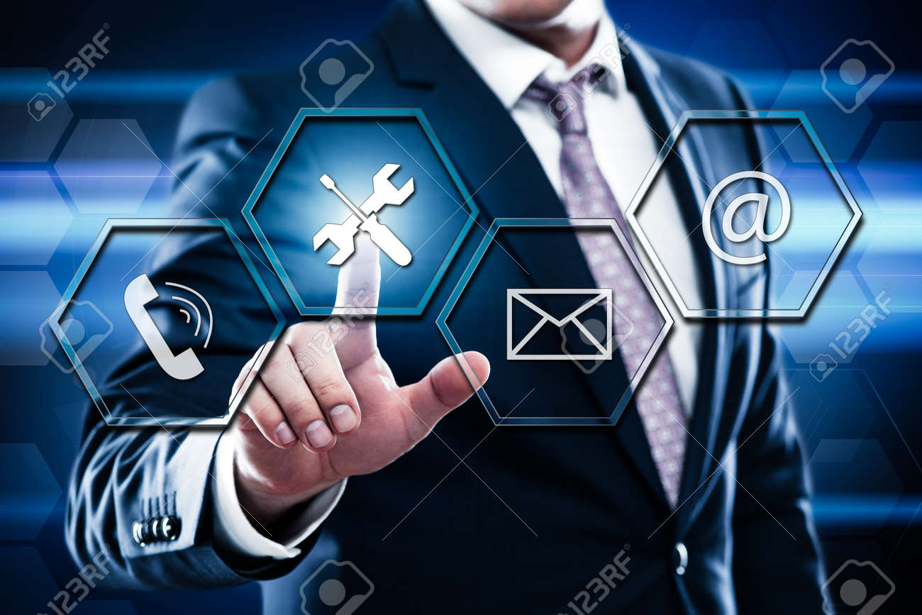 Technical Support Customer Service Business Technology Internet Concept. - 87668022