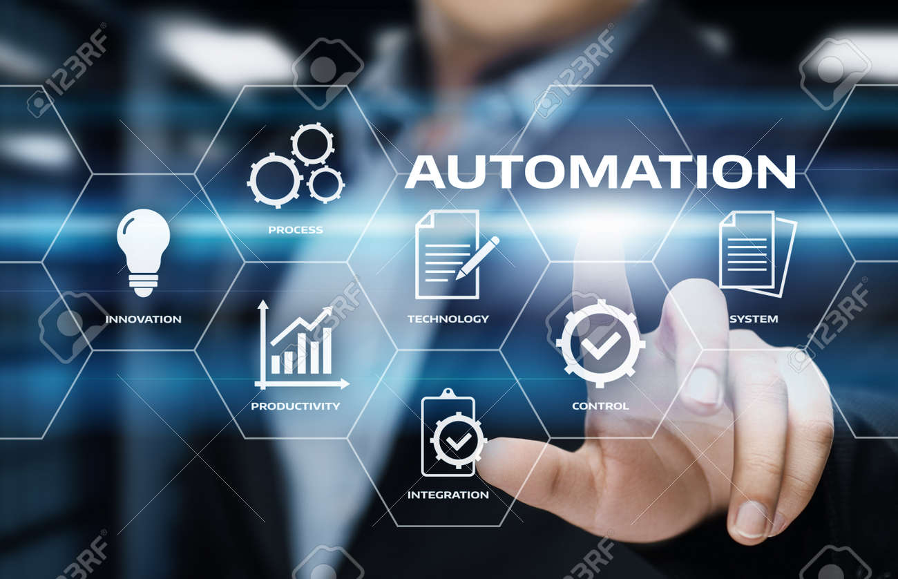 Automation Software Technology Process System Business concept. - 87724754