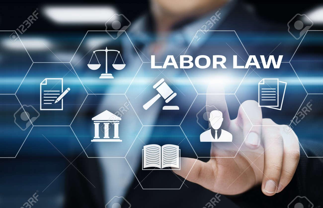 Labor Law Lawyer Legal Business Internet Technology Concept. - 88075998