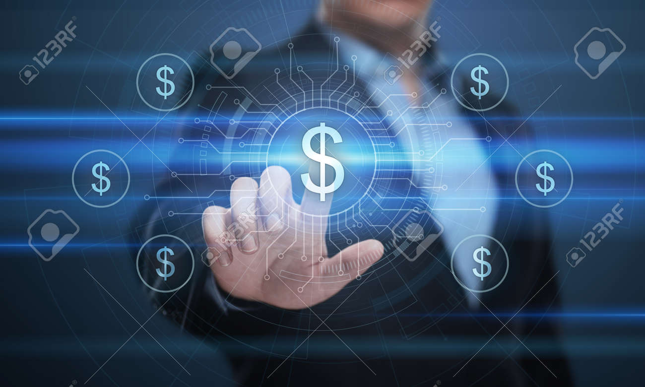 Dollar Currency Business Banking Finance Technology Concept. - 88114615