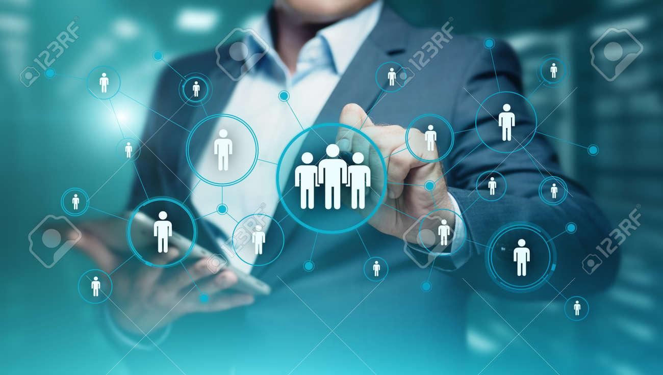 Human Resources HR management Recruitment Employment Headhunting Concept. - 88599489