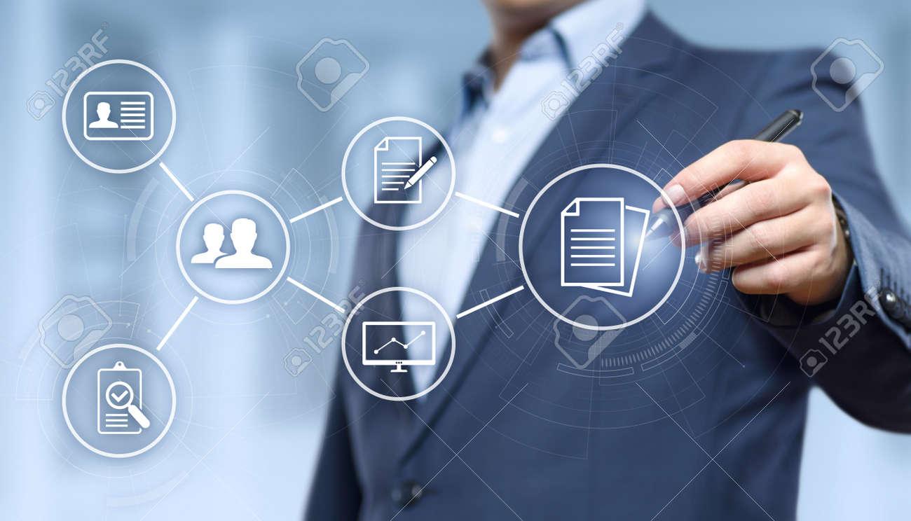 Document Management Data System Business Internet Technology Concept. - 94179445