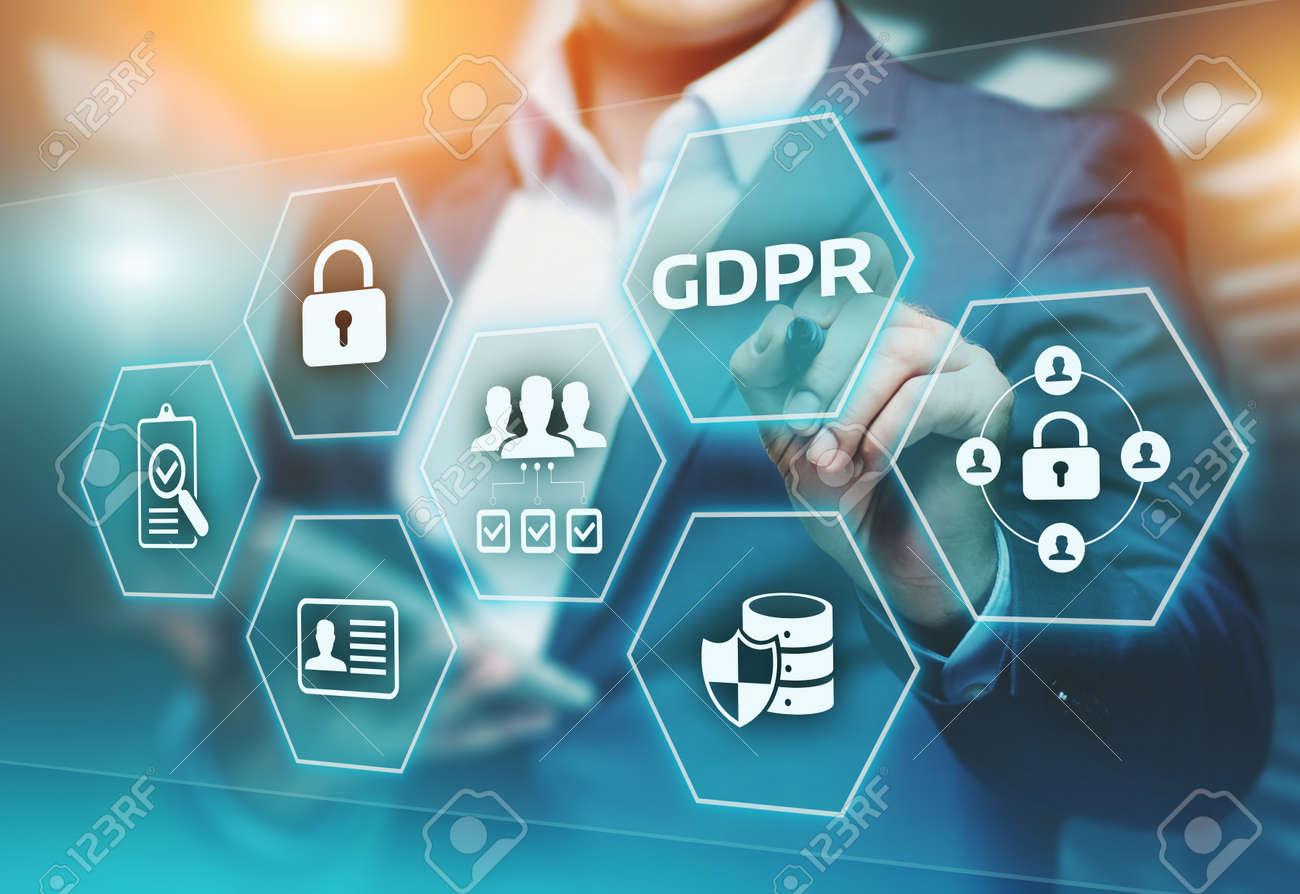 GDPR General Data Protection Regulation Business Internet Technology Concept. - 95429451