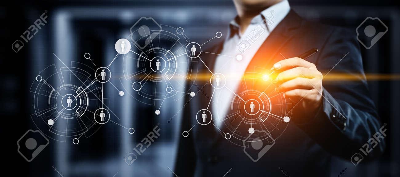 Human Resources HR management Recruitment Employment Headhunting Concept. - 95796815