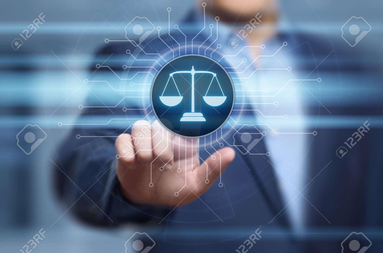 Labor Law Lawyer Legal Business Internet Technology Concept. - 95907341