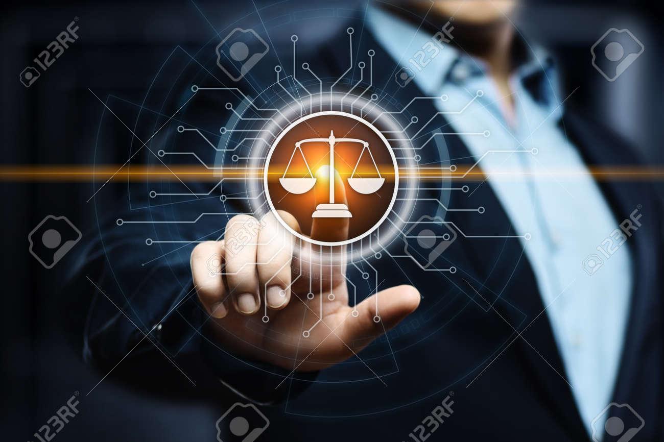Labor Law Lawyer Legal Business Internet Technology Concept. - 95907348