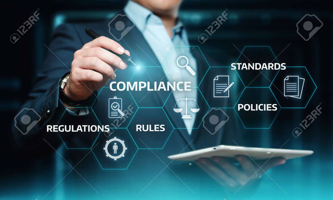Compliance Rules Law Regulation Policy Business Technology concept. - 97958211