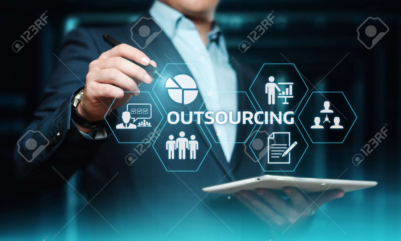 Outsourcing Human Resources Business Internet Technology Concept. - 104246702