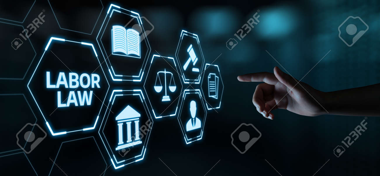 Labor Law Lawyer Legal Business Internet Technology Concept. - 105794220