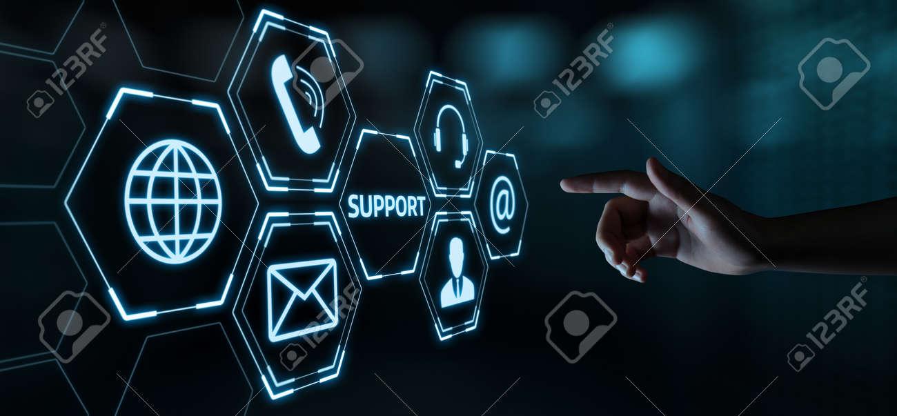 Technical Support Center Customer Service Internet Business Technology Concept. - 107267761
