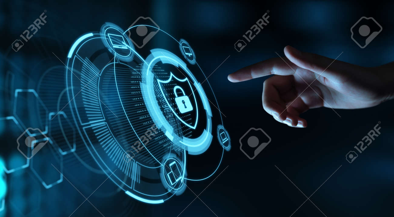 Data protection Cyber Security Privacy Business Internet Technology Concept. - 115079136