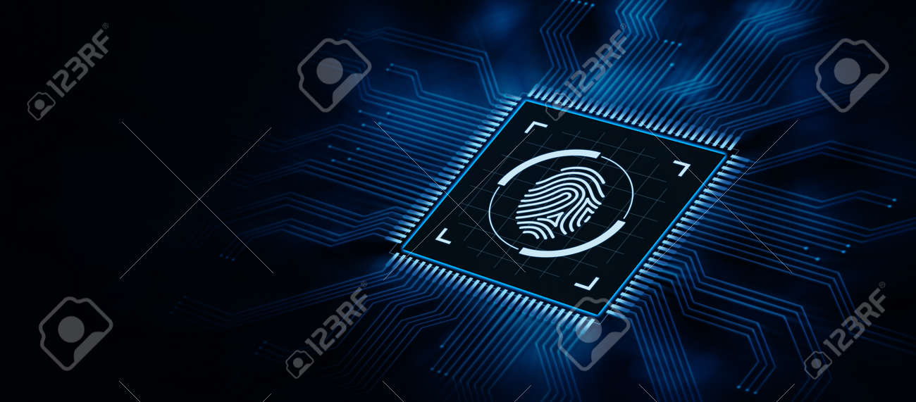 Fingerprint Scan Security Access With Biometrics