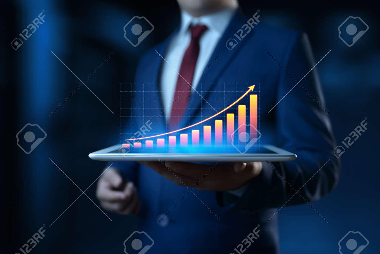 Financial Graph. Stock Market chart. Forex Investment Business Internet Technology concept. - 127813749
