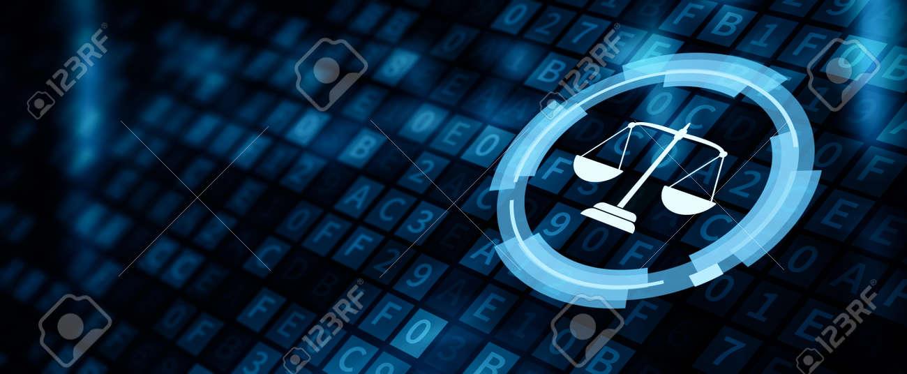 Law Labor Lawyer Legal Business Internet Technology Concept - 128216651