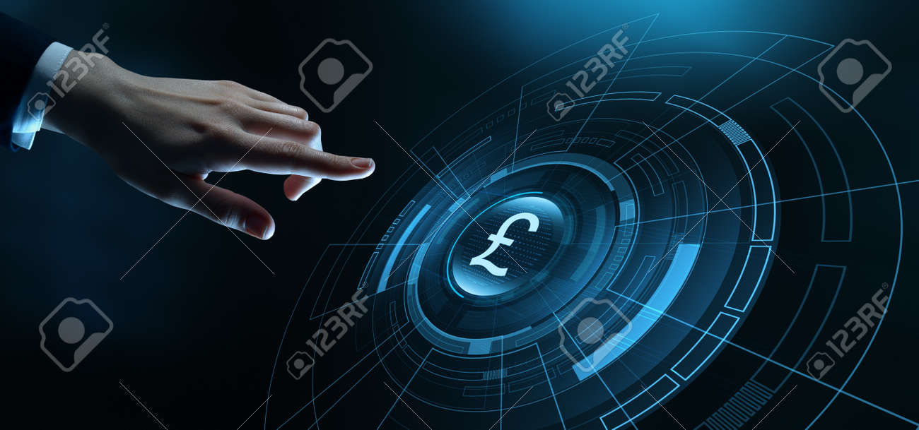 Pound Currency Business Banking Finance Technology Concept - 128216816
