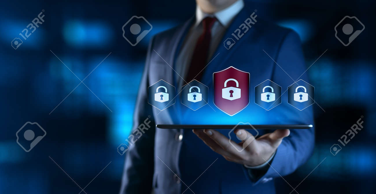 Cyber Security Data Protection Business Technology Privacy concept - 128216811