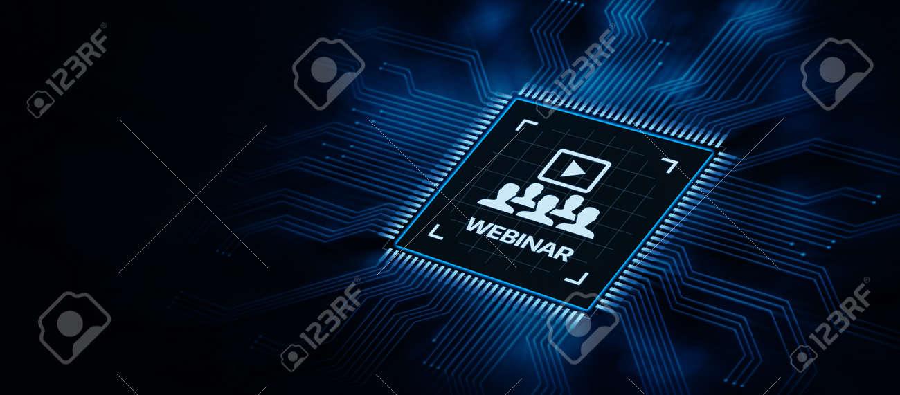 Webinar E-learning Training Business Internet Technology Concept - 128216819