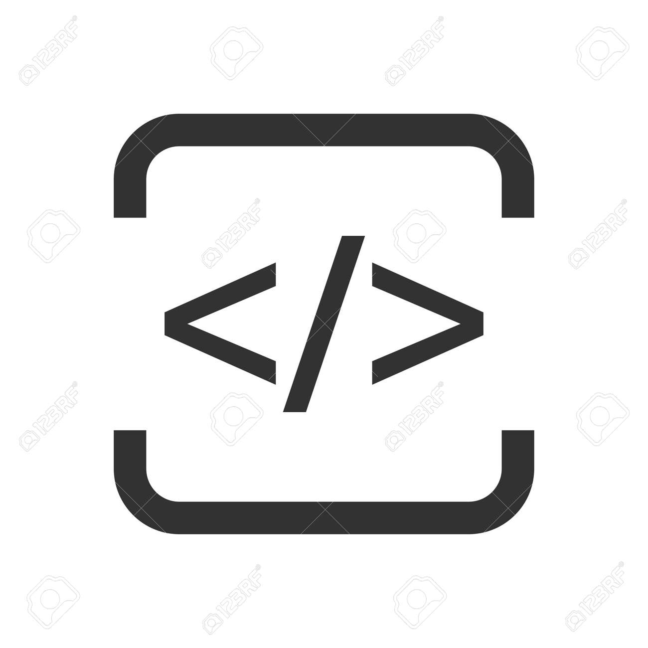 html flat icon royalty free cliparts vectors and stock rh 123rf com Arrow Button HTML Arrow HTML- Codes