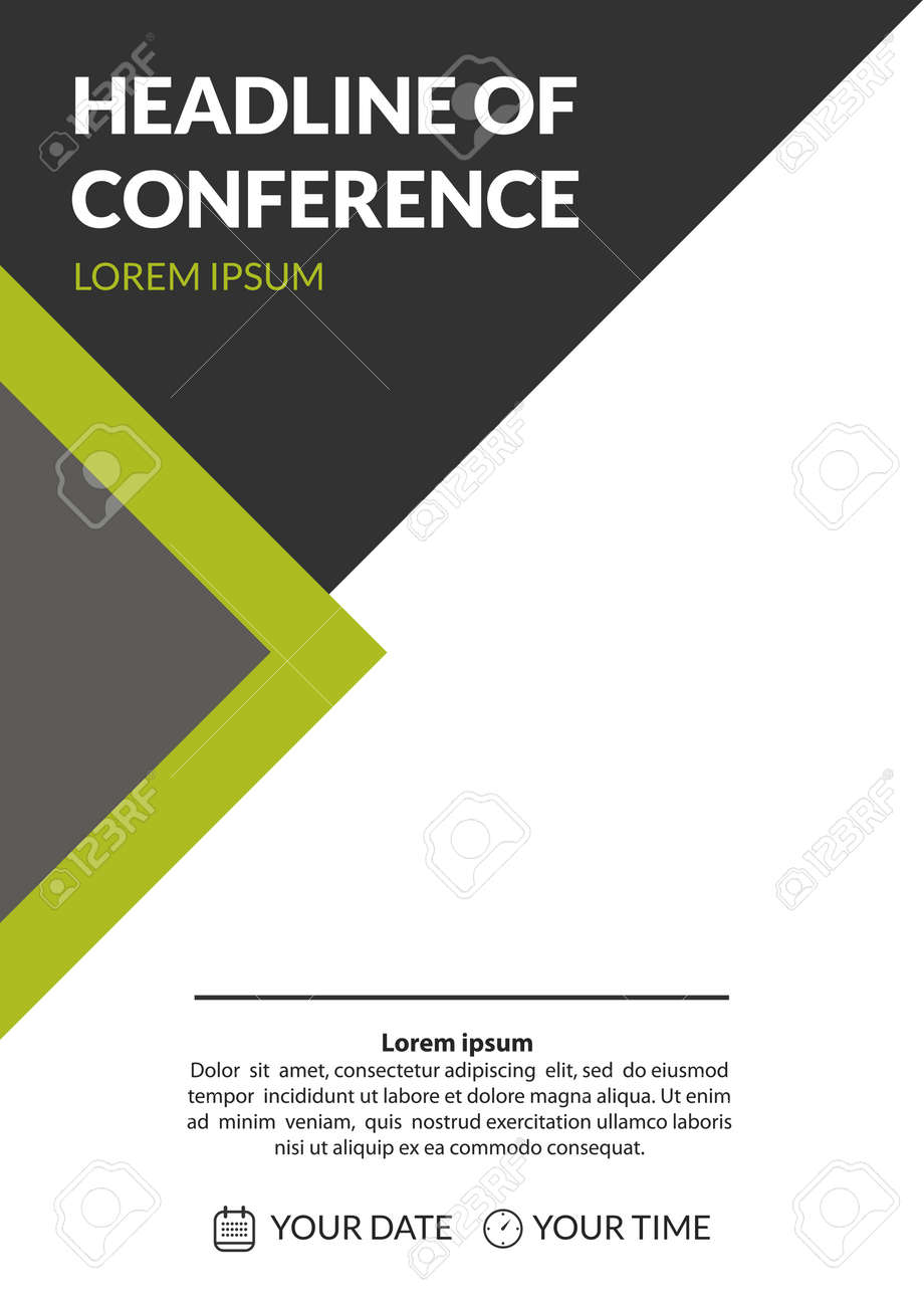 Business conference invitation concept colorful simple geometric business conference invitation concept colorful simple geometric background with grey and green triangles template stopboris Images