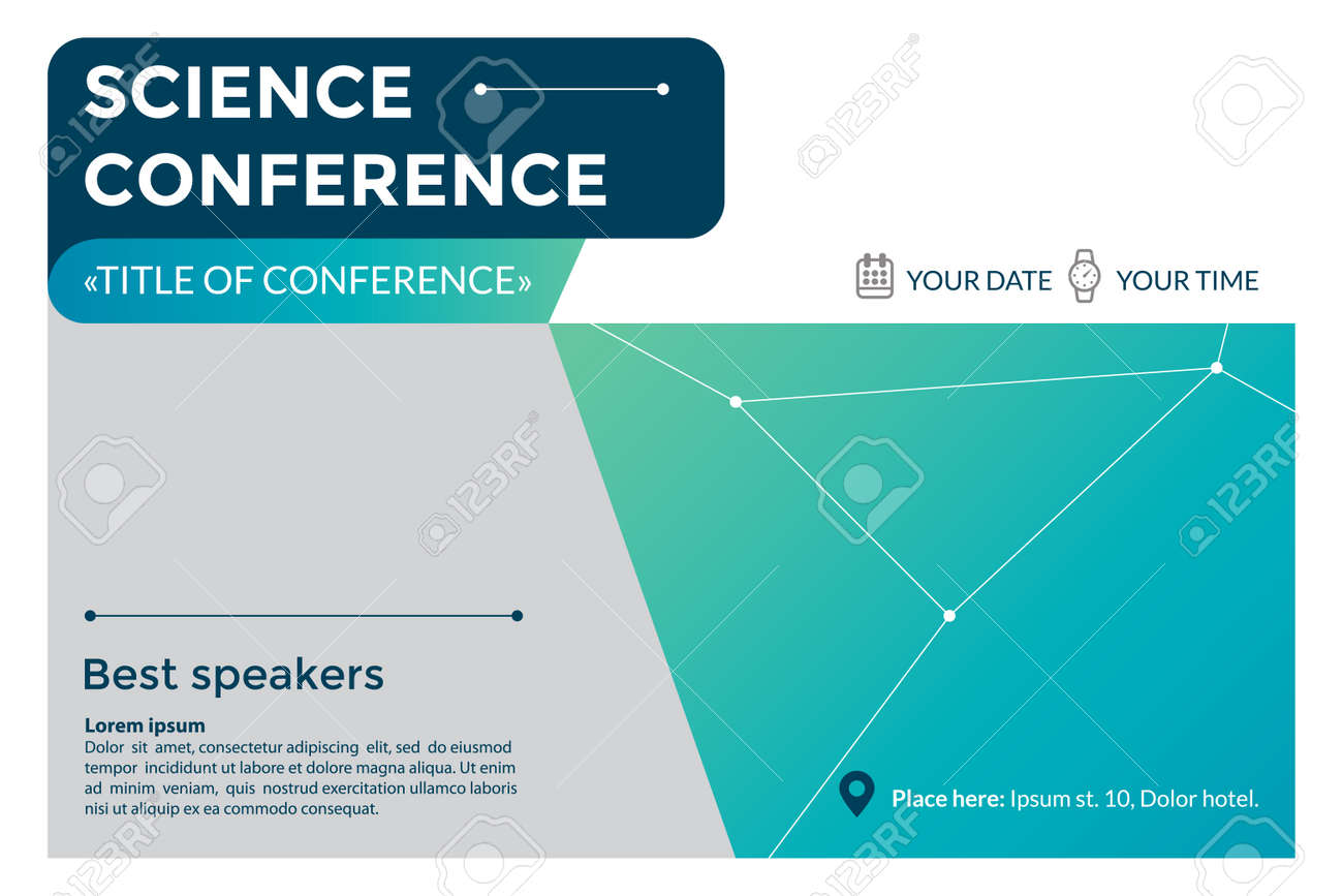 Science conference invitation concept royalty free cliparts vectors science conference invitation concept stock vector 85585448 stopboris Images