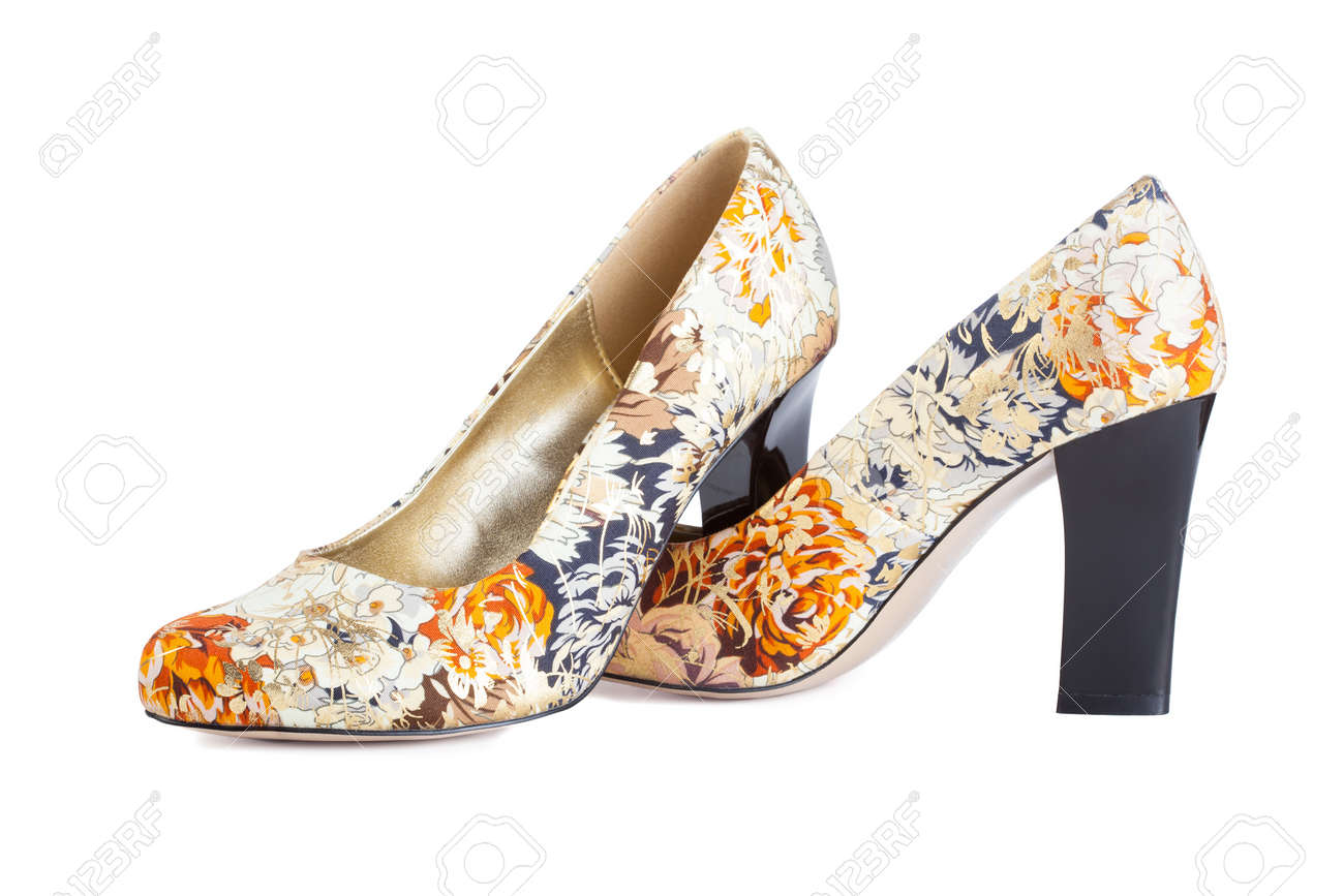 Flowers print shoes isolated on white stock photo picture and flowers print shoes isolated on white stock photo 13378574 mightylinksfo