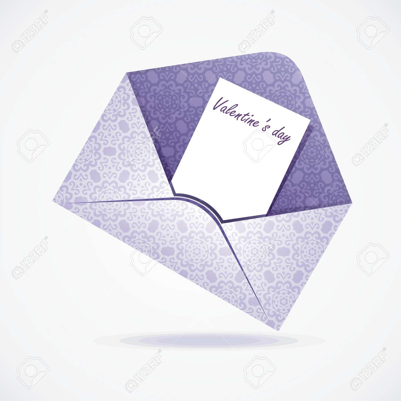 vector letter on valentine s day on white background  Vector illustration Stock Vector - 17241221