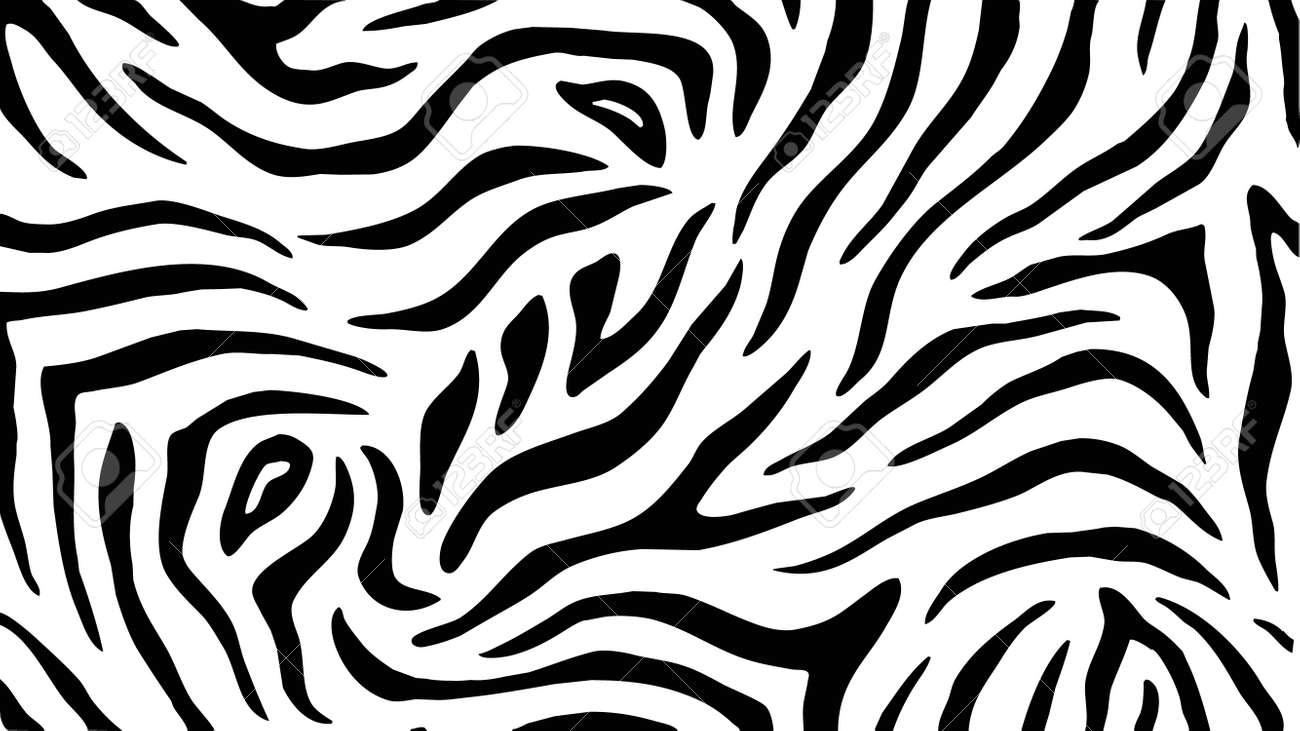 Zebra Stripes Seamless Pattern Vector Texture Background Royalty ...