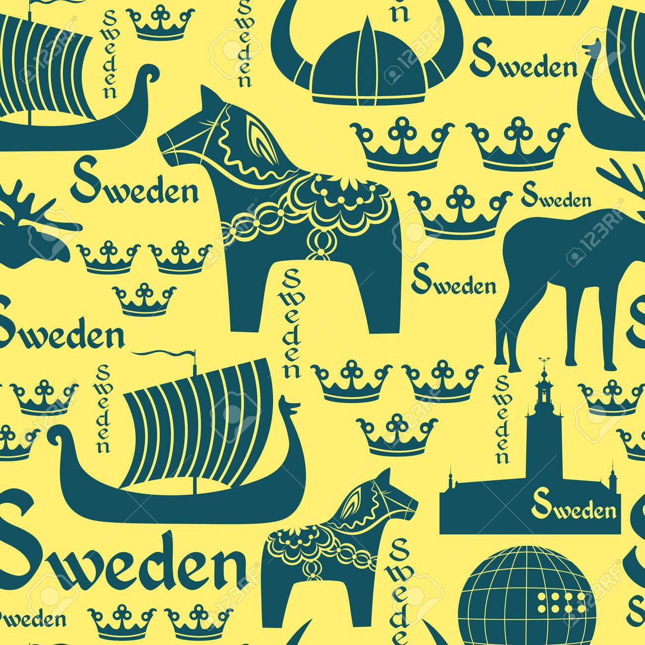 Schwedische traditionelle muster  Alexandragl #1 Lizenzfreie Vektorgrafiken Kaufen: 123RF