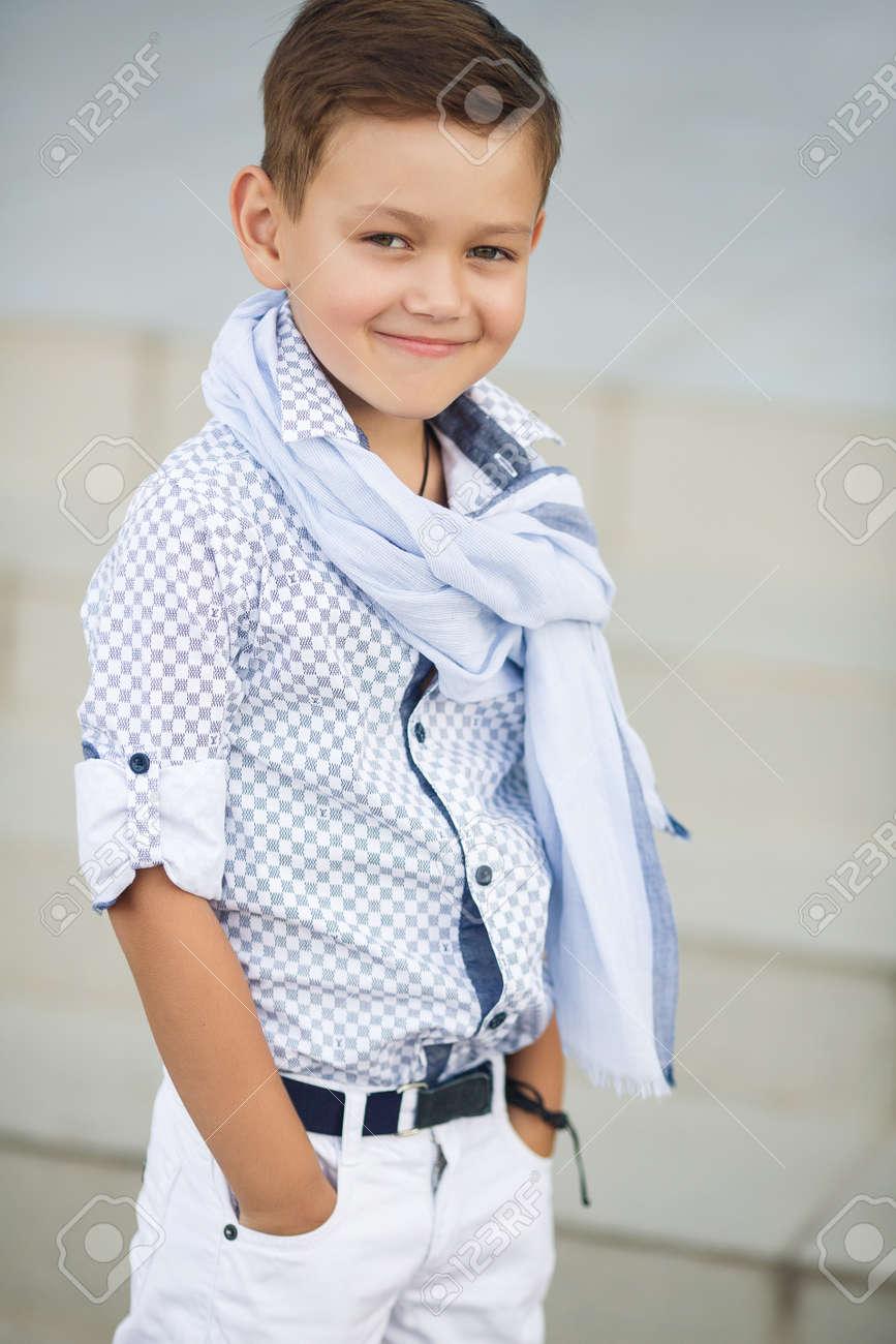 Baby stylish boy photo