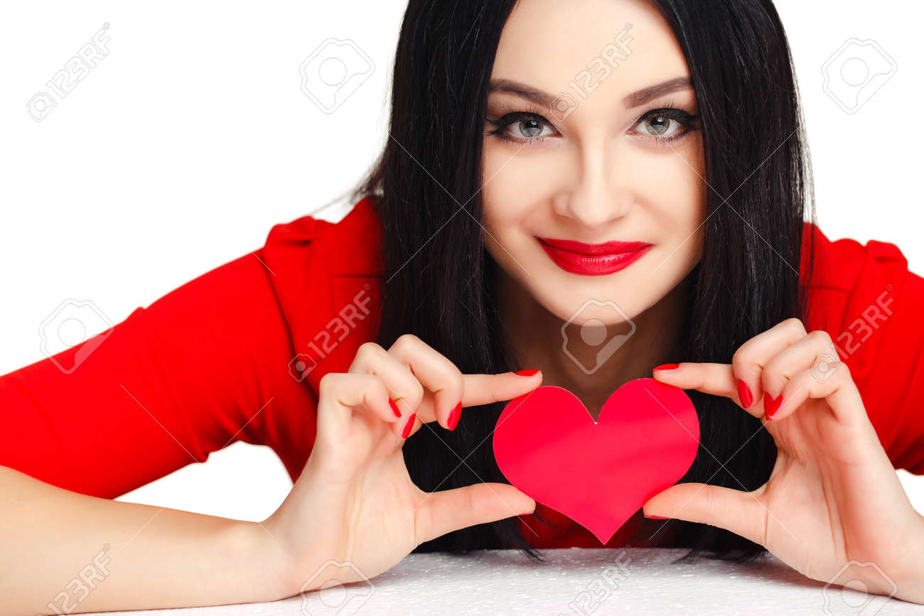How to make beautiful and bright hearts out of clips 13