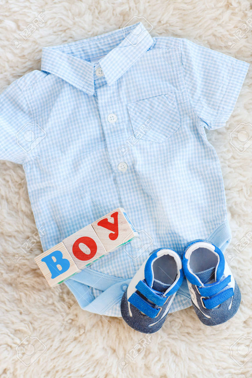 5d191922c Baby clothes for newborn. In pastel colors.Children's shirt in blue white  checked baby