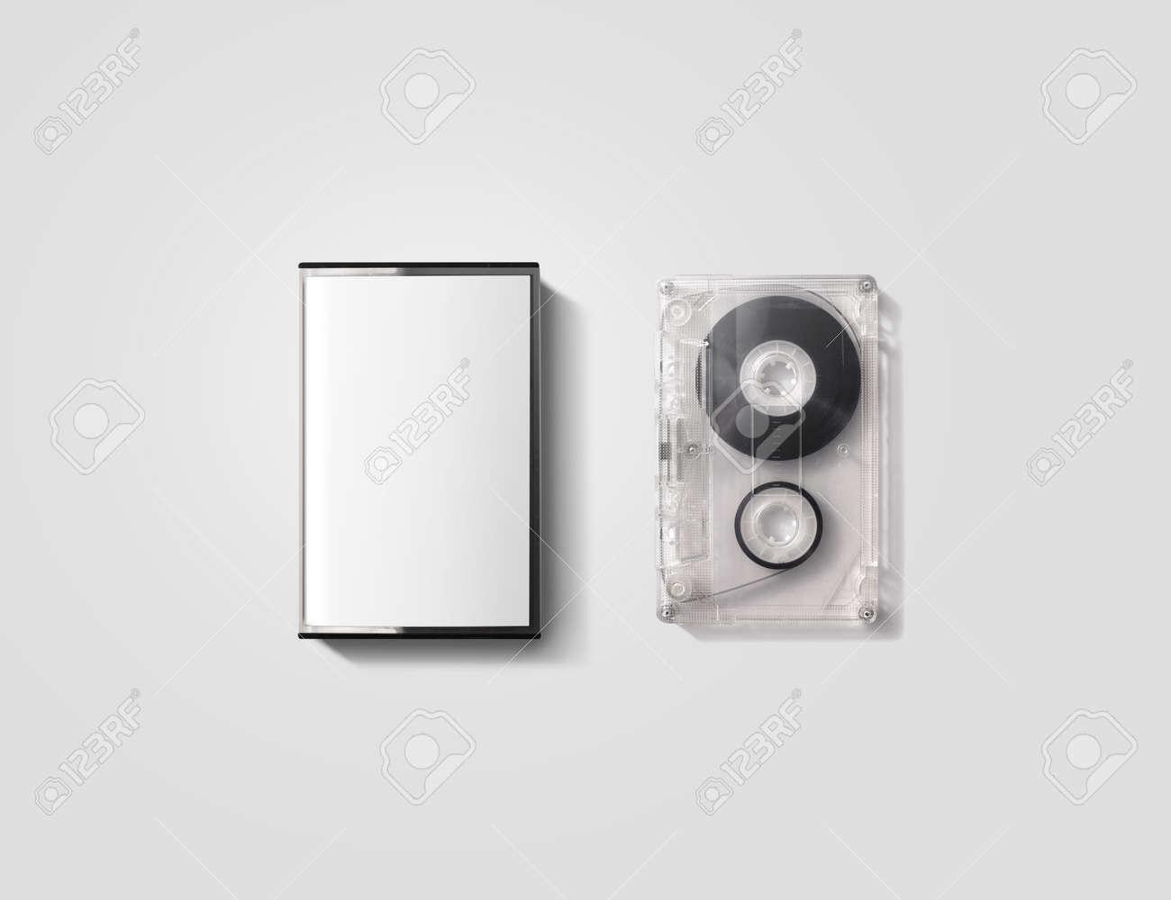 Blank cassette tape box design mockup, isolated - 57169728