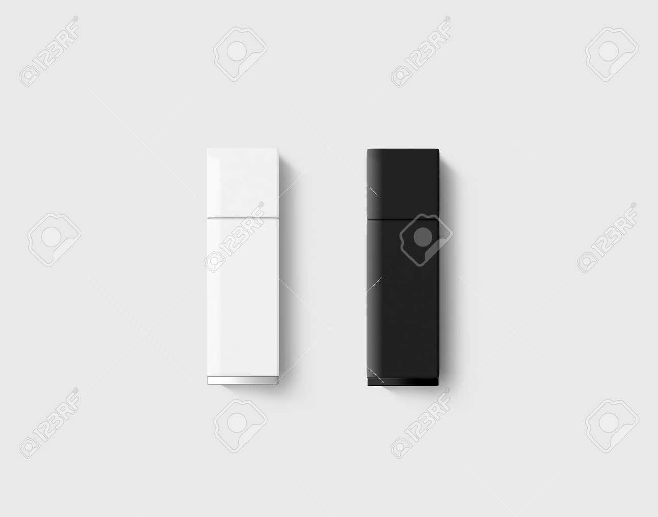 Klare Kunststoff-Flash-Disk-Vorlage Kappe Geschlossen. Plain ...