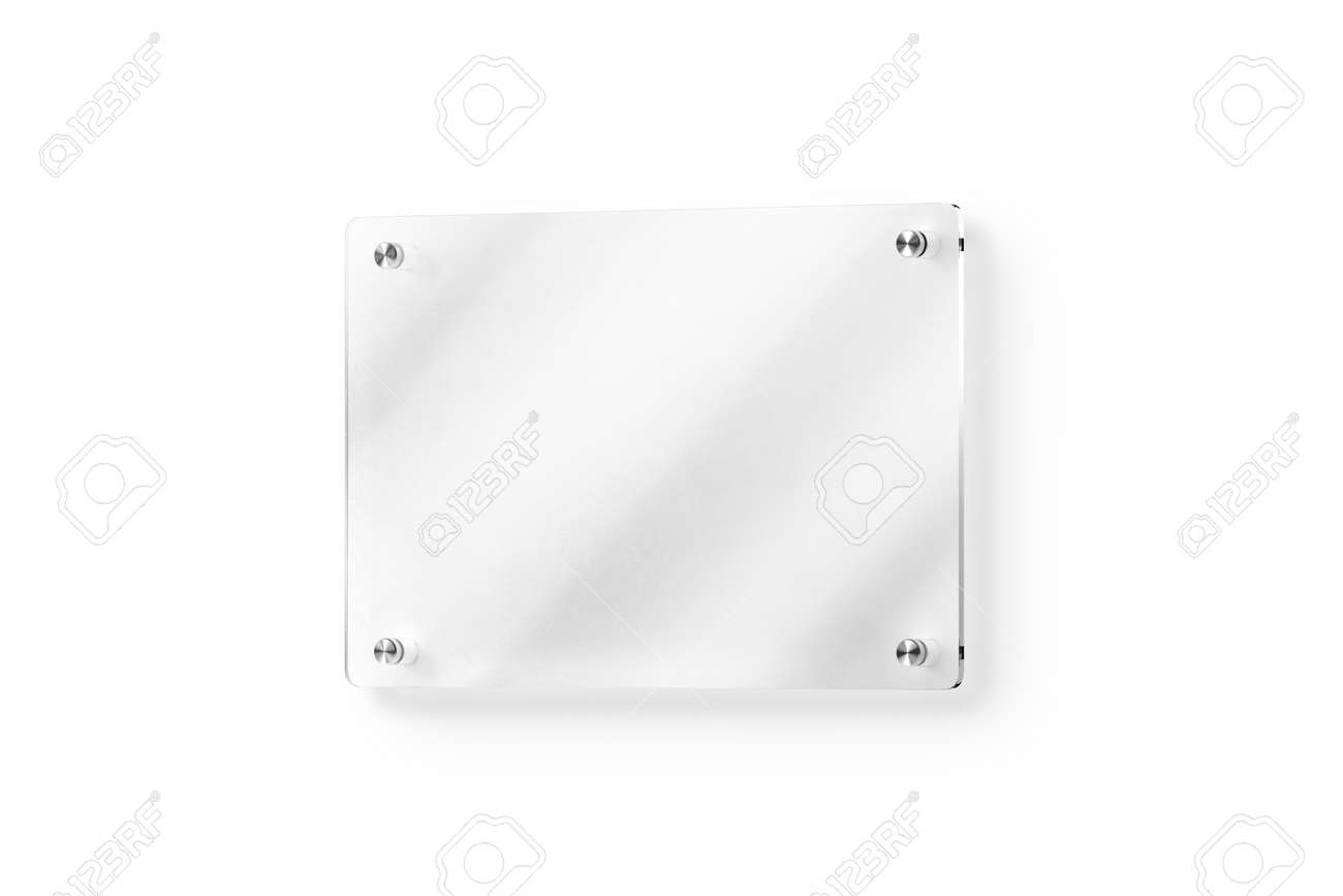 Diseño Letrero Acrílico Transparente Maqueta. Titular De La Placa De ...
