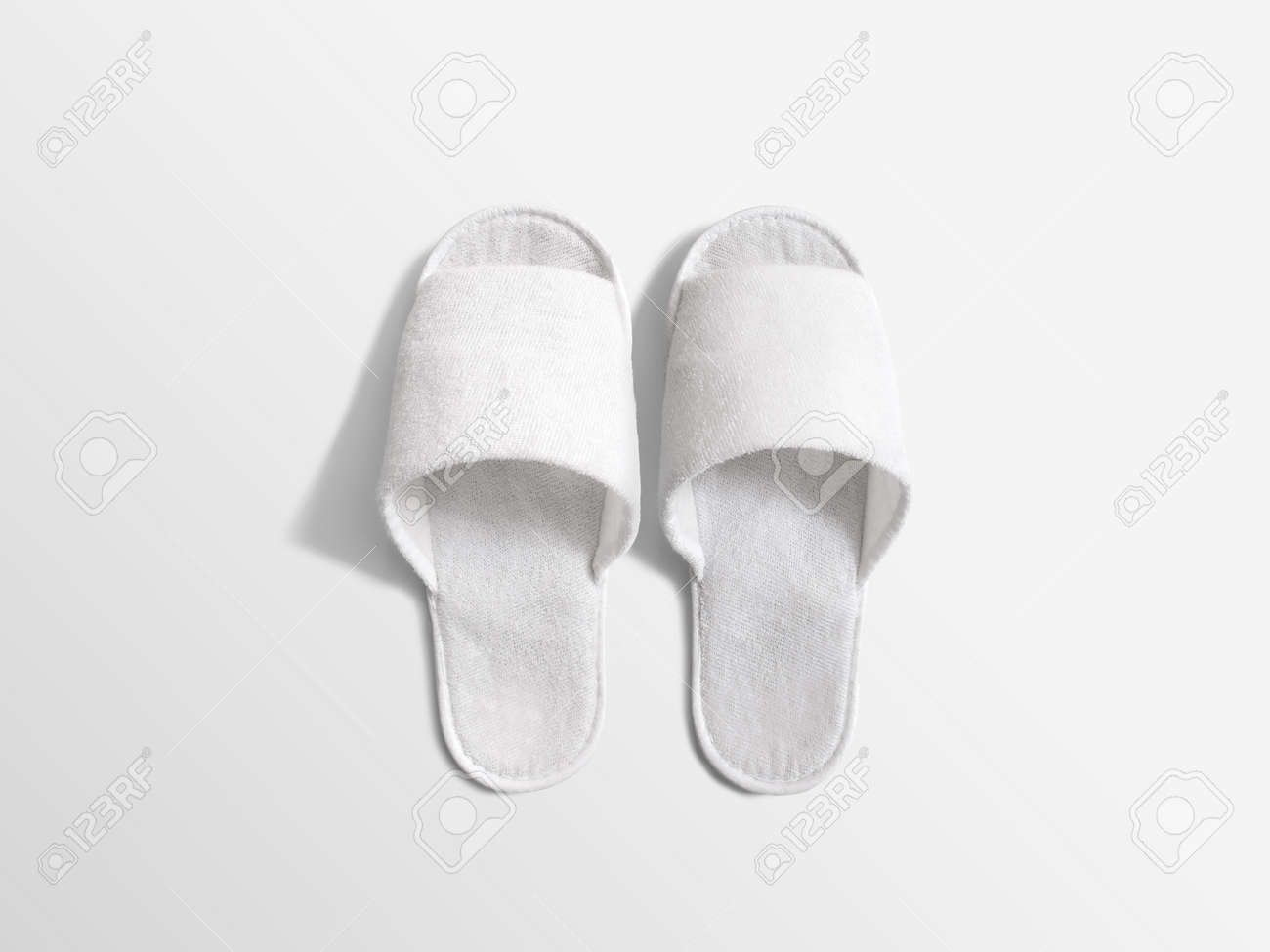 Pair Of Blank White Home Slippers