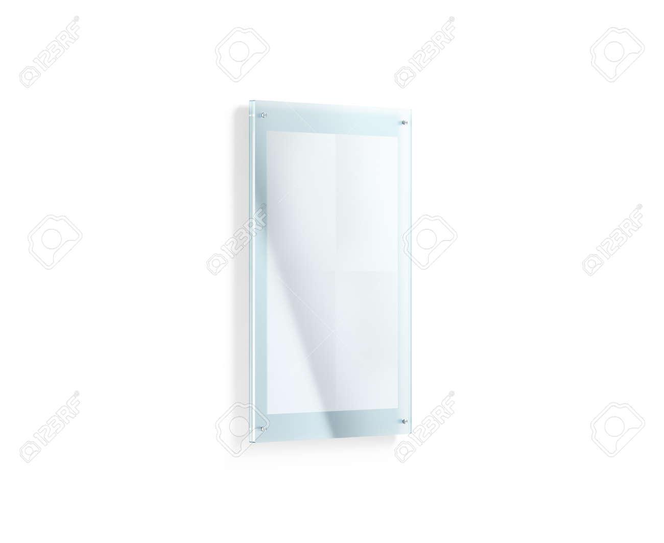 Blanca En Blanco Plegarse Maqueta Del Cartel Debajo Del Soporte De ...