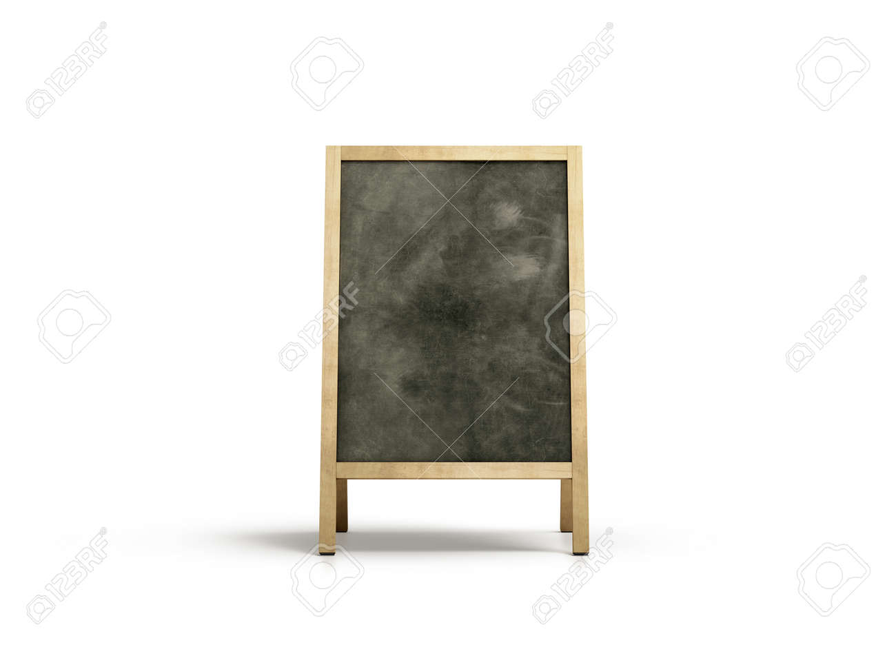 Wonderful Blank Outdoor Chalkboard Stand Mockup, Isolated, Front View  OF35