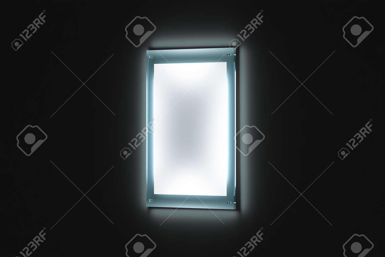 Maqueta De Cartel En Blanco Blanco A3, Soporte De Vidrio Iluminado ...