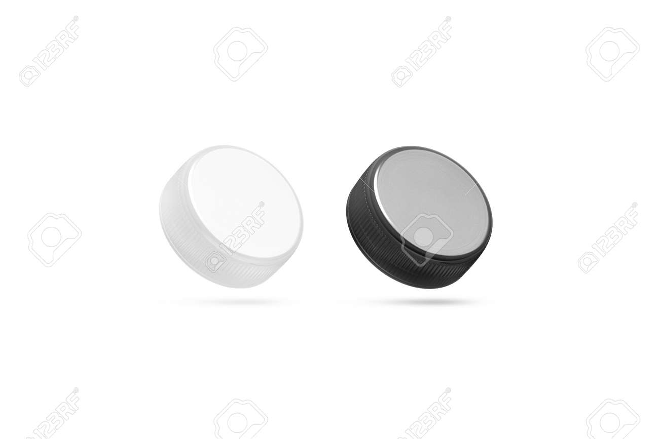 Blank plastic bottle caps mock up set isolated black and white blank plastic bottle caps mock up set isolated black and white 3d rendering maxwellsz