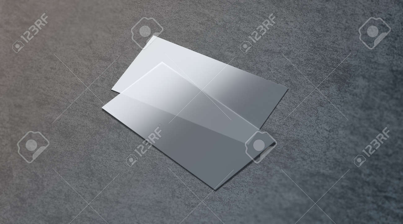 Blank Plastic Transparent Business Card Mock Up, 3d Rendering ...