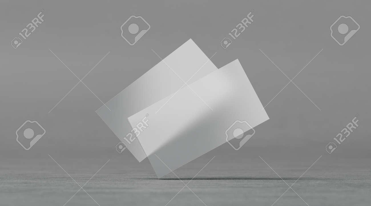 Tarjetas De Visita Transparentes Plásticas En Blanco Mockups ...