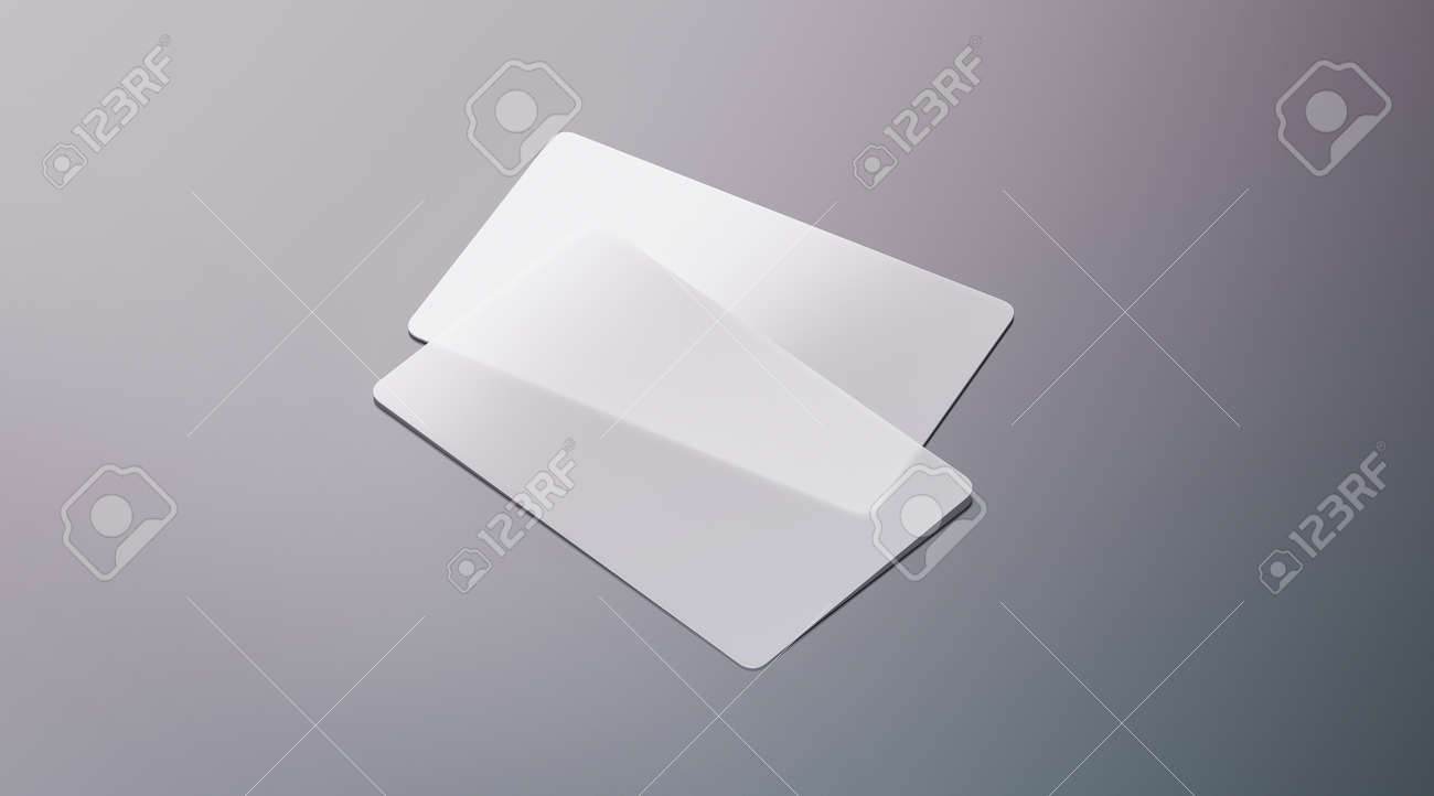 Blank Plastic Transparent Business Cards Mock Up, 3d Rendering ...