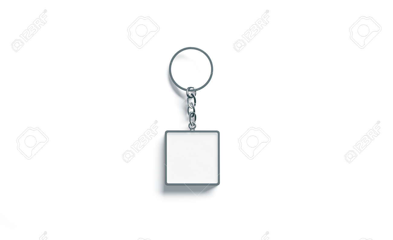 Blank metal square white key chain mockup top view 3d rendering blank metal square white key chain mockup top view 3d rendering clear silver keychain buycottarizona Gallery