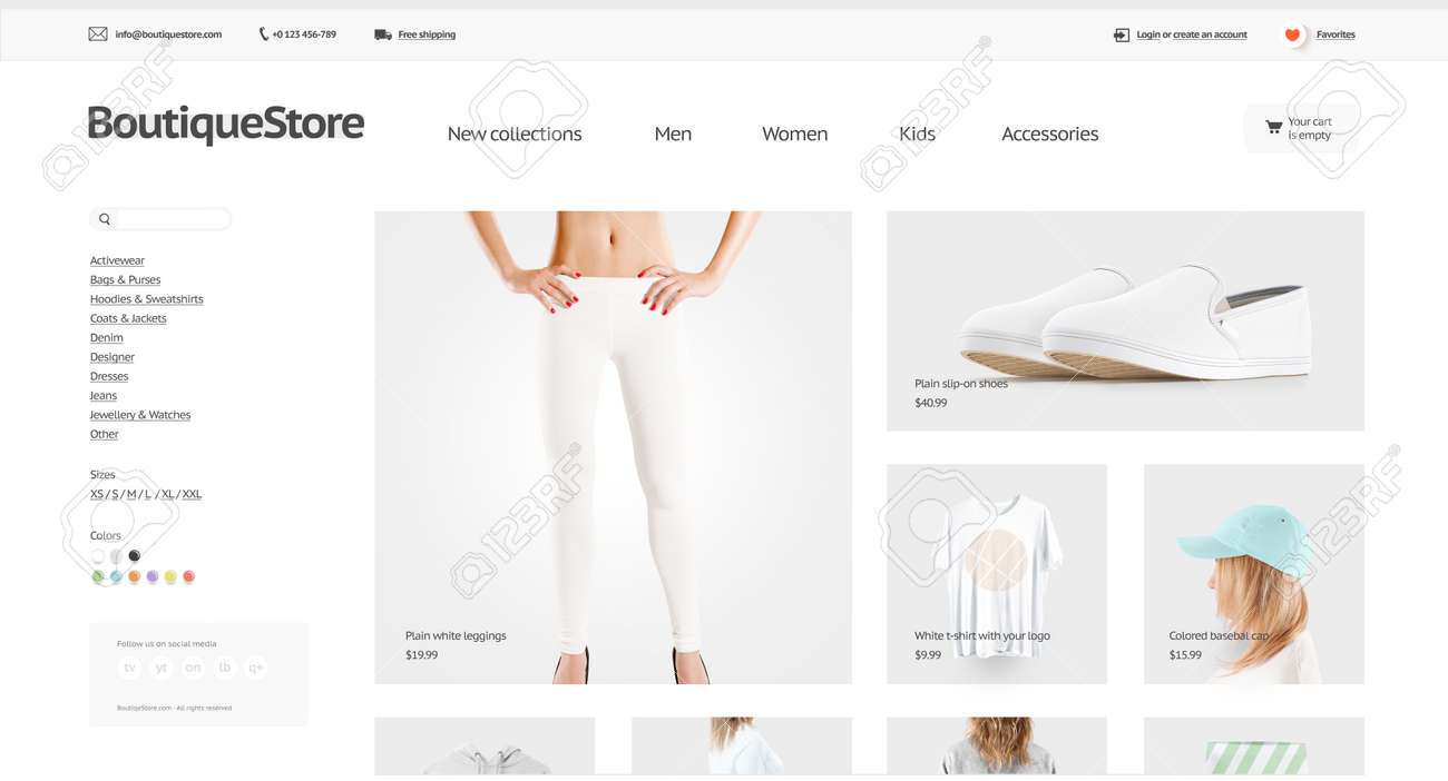 Fashion web store template mock up isolated 3d illustration fashion web store template mock up isolated 3d illustration clothing web page interface mockup maxwellsz