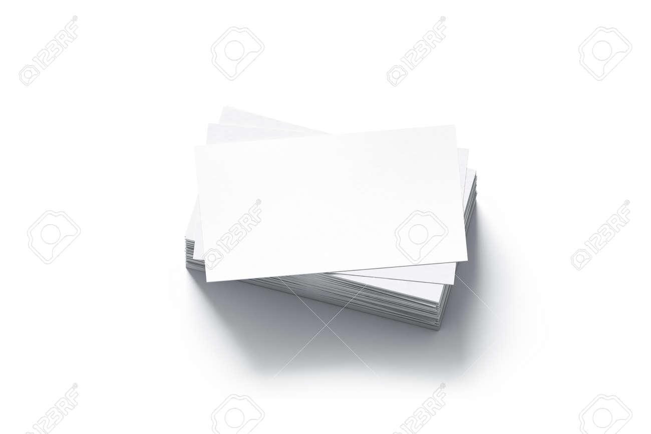 Blank White Business Cards Stack Mock Up 3d Rendering Namecard Design Mockup Visiting